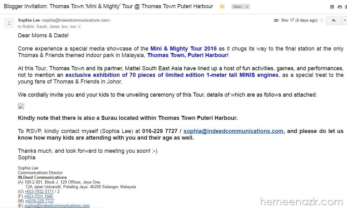 blogger invitation - thomas town