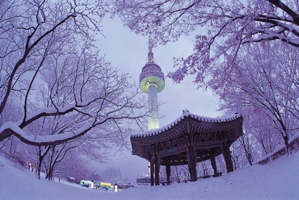 Winter-on-Namsan-Mountain-with-N-Seoul-Tower-in-the-background