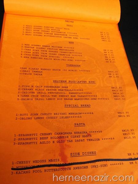 menu butterscotch