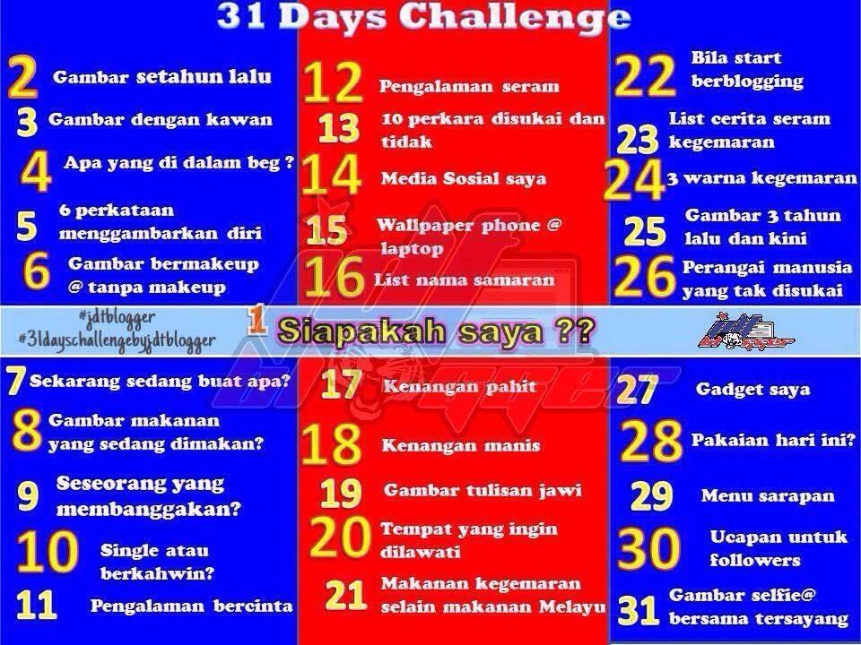 Tajuk 31 Days Challenge