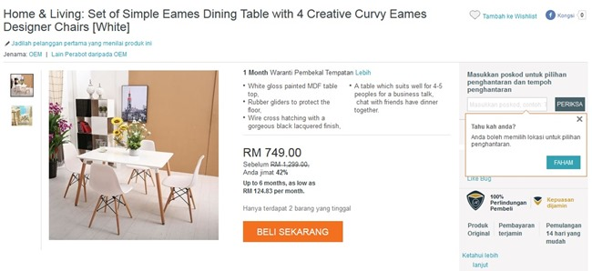 dining table lazada