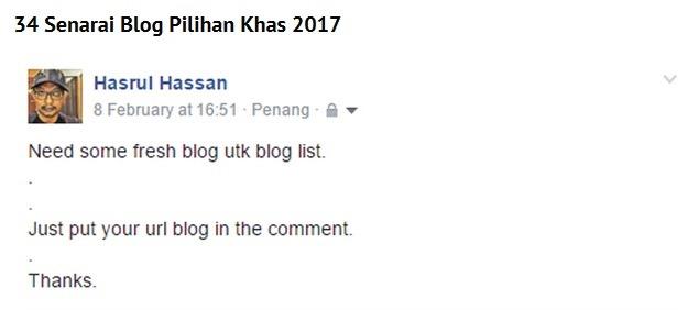 blogger hasrul hassan