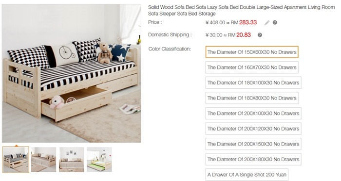 Solid Wood Sofa Bed Sofa Lazy Sofa Bed Double Large-Sized Apartment Living Room Sofa Sleeper Sofa Bed Storage