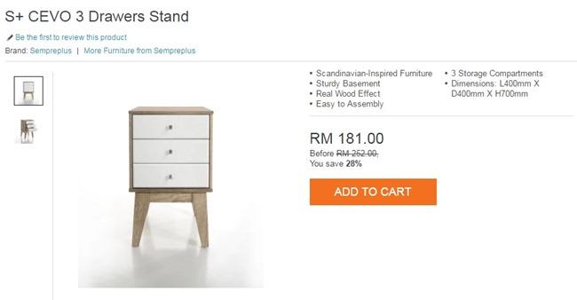 S  CEVO 3 drawer stand