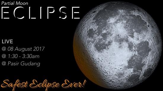 Gerhana Bulan Separa Ogos 2017- English