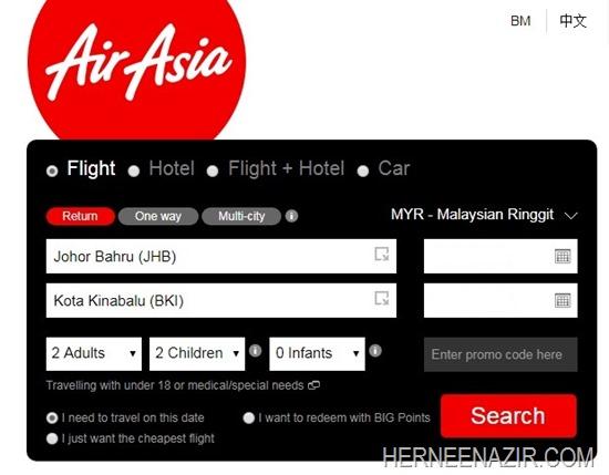 Tiket Air Asia JHB-BKI