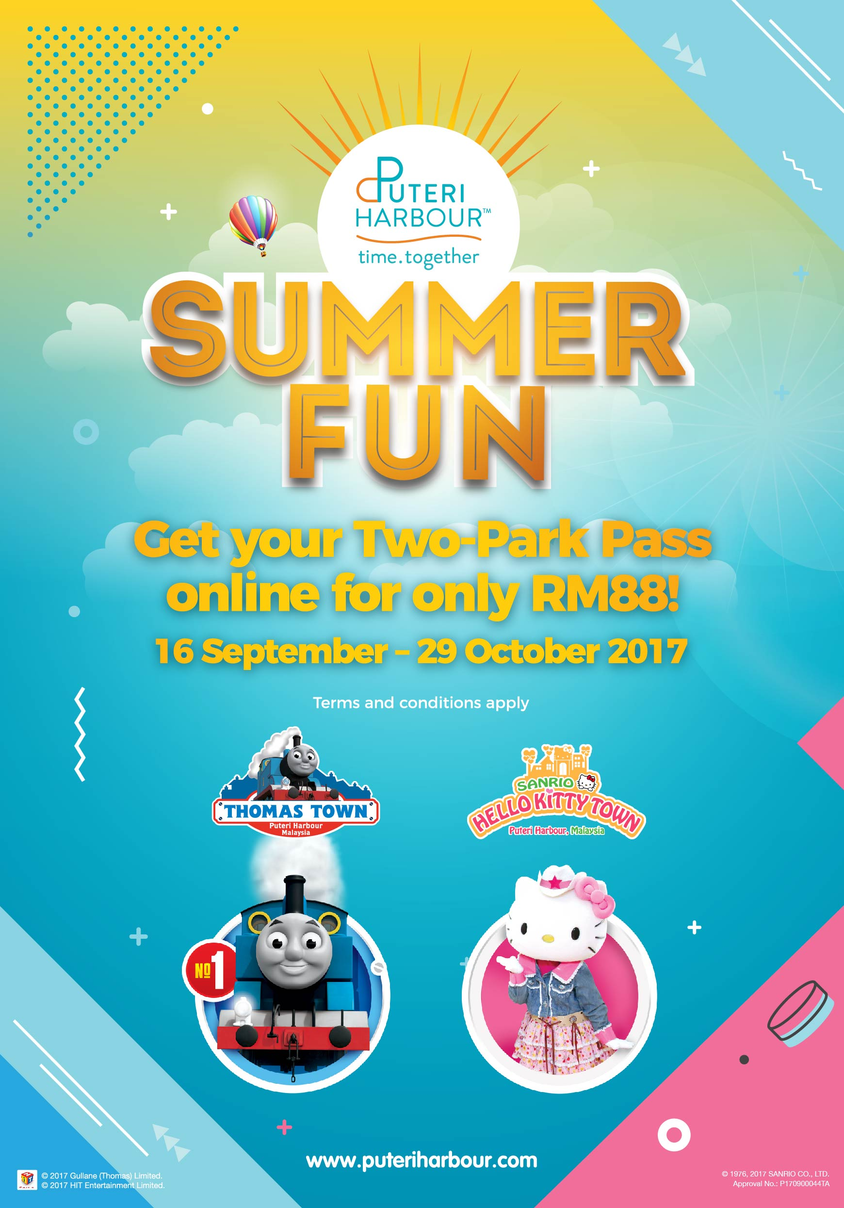 Summer Fun at Sanrio Hello Kitty Town and Thomas Town 16 Sept – 29 October 2017