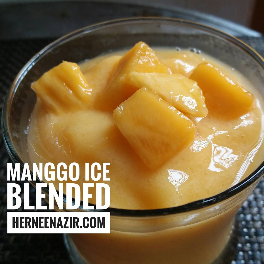 Resepi Mango Ice Blended Mudah