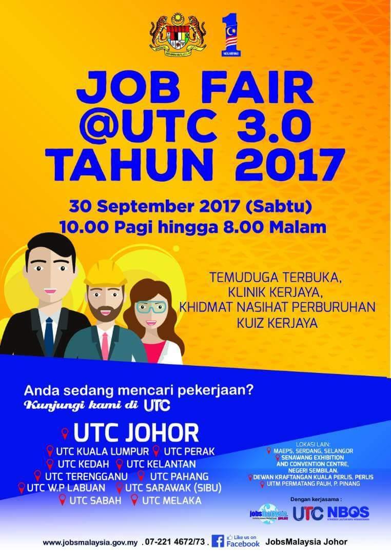 Job Fair @ UTC 3.0 Tahun 2017 – 30 September 2017
