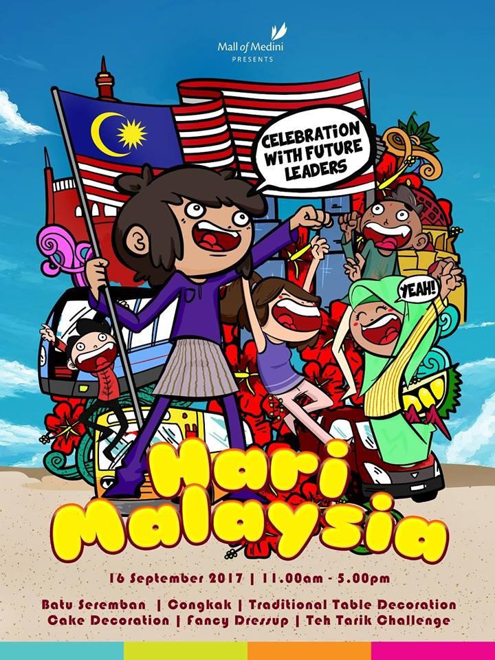 Hari Malaysia: Celebration with Future Leaders – Mall of Medini 16 Sept 2017