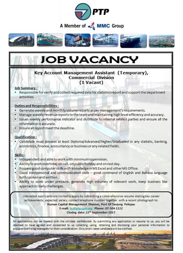 job vancacy PTP - key account management assistant