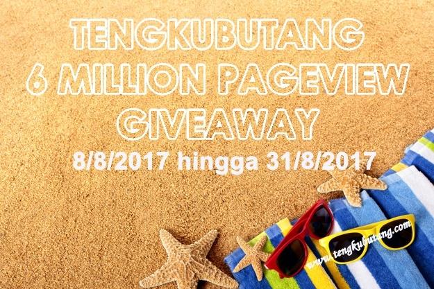 Tengkubutang 6 Million Pageview Giveaway