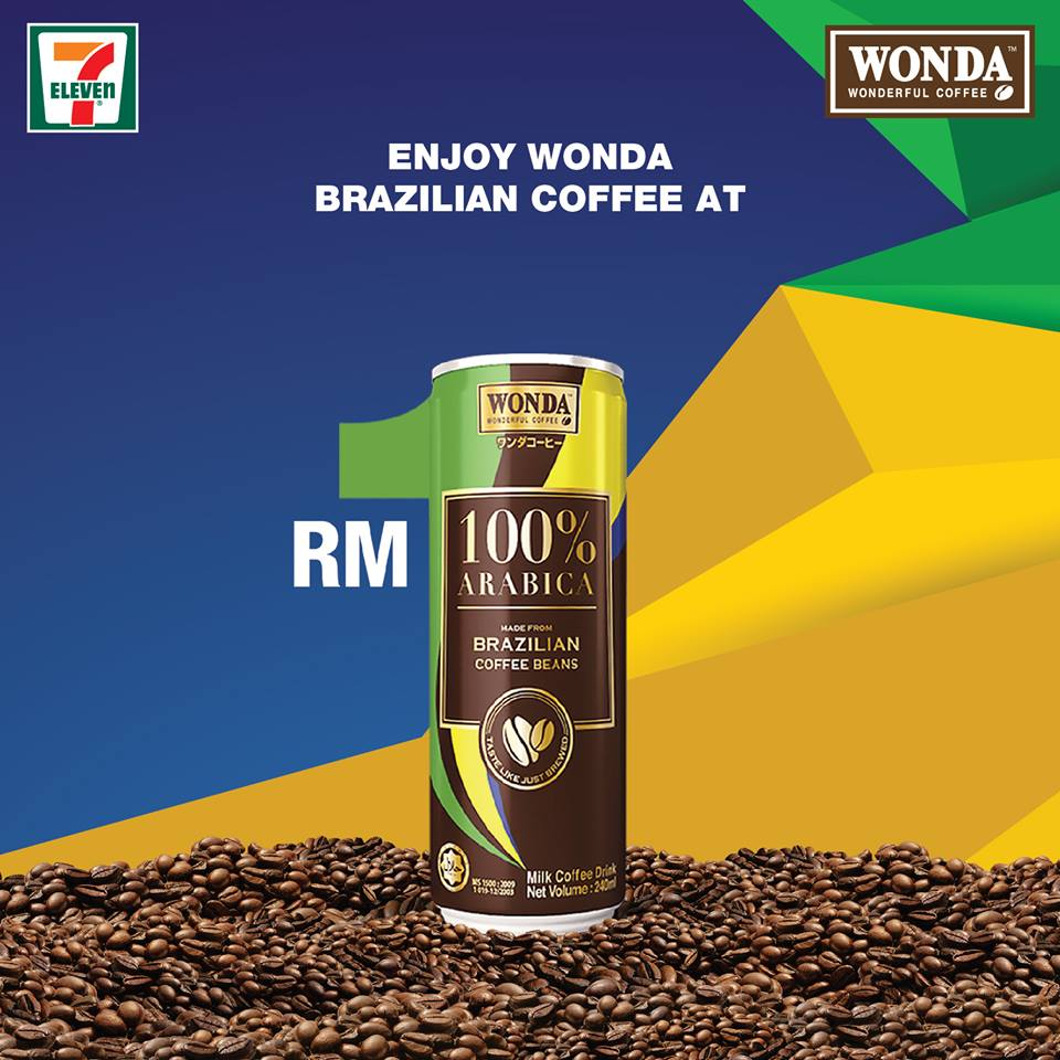 Wonda Brazilian Coffee RM1 from 15 – 17 September 2017 at 7-Eleven