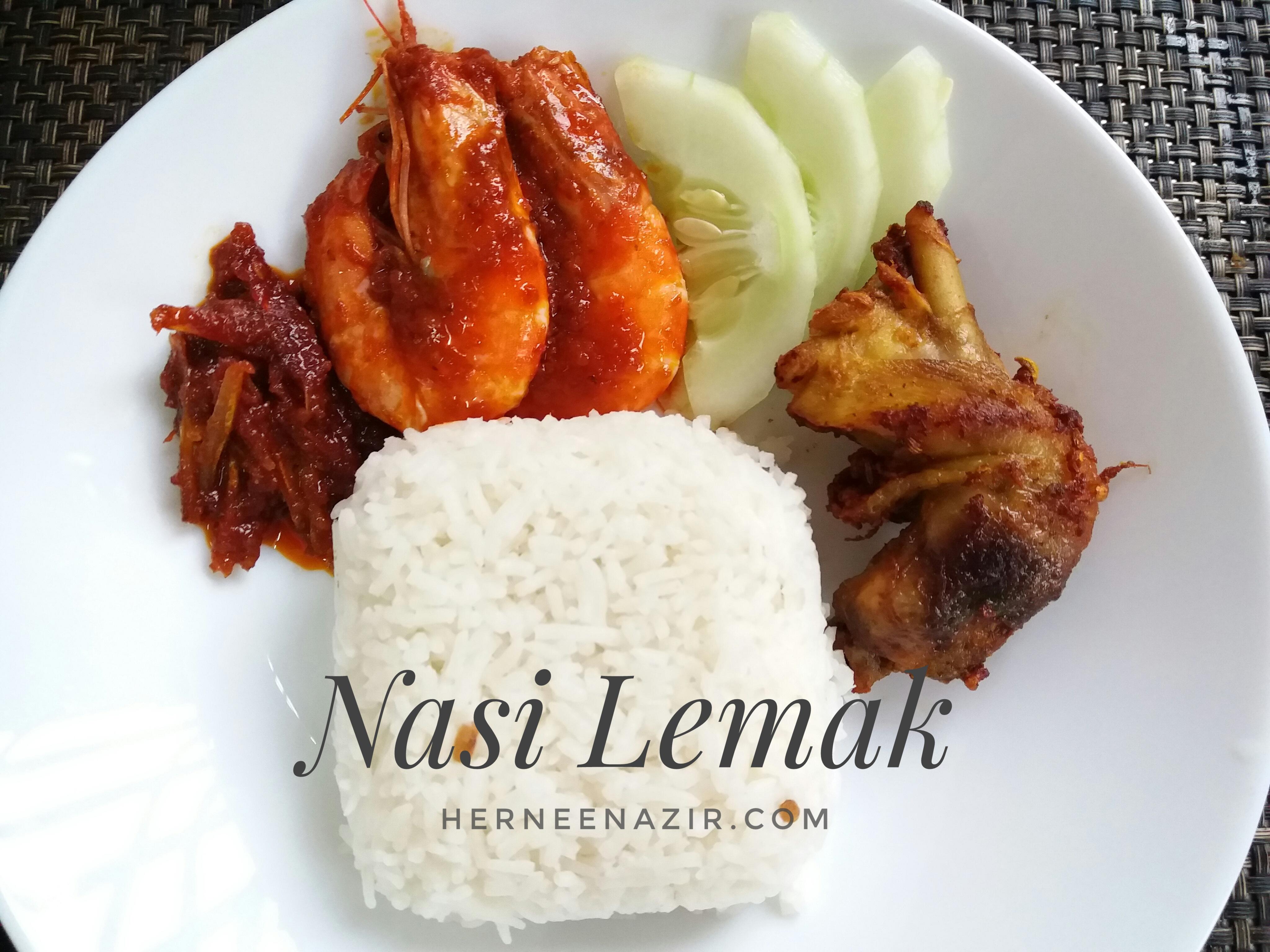 Menu of The Day 281017 – Nasi Lemak