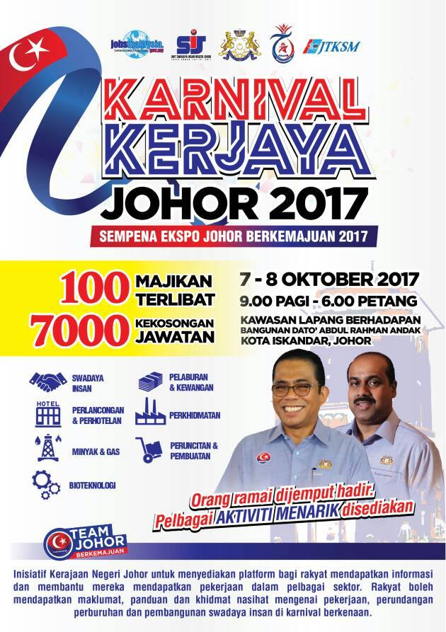 Karnival Kerjaya Johor 2017 | 7-8 Oktober 2017