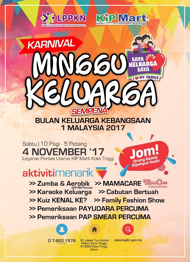 Karnival Minggu Keluarga| 4 November 2017