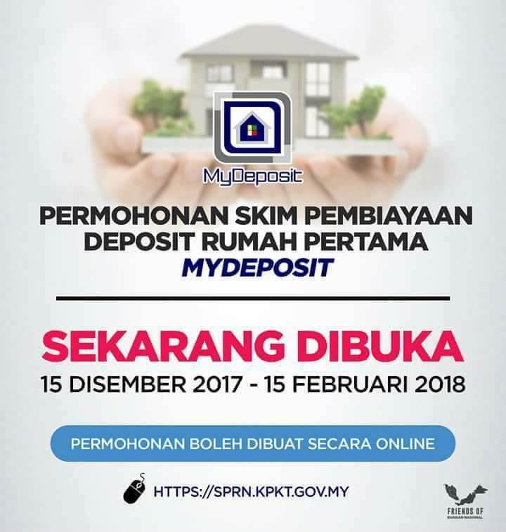 Permohonan Skim Pembiayaan Deposit Rumah Pertama MyDeposit