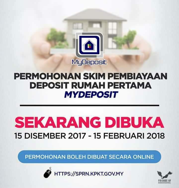 Permohonan Skim Pembiayaan Deposit Rumah Pertama Mydeposit Herneenazir Com
