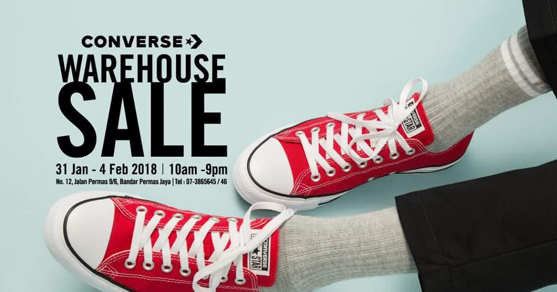 Converse Warehouse SaleBandar Permas Jaya | 31 Jan – 4 Feb 2018