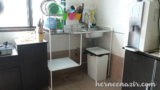 Pemasangan SUNNERSTA Mini-kitchen