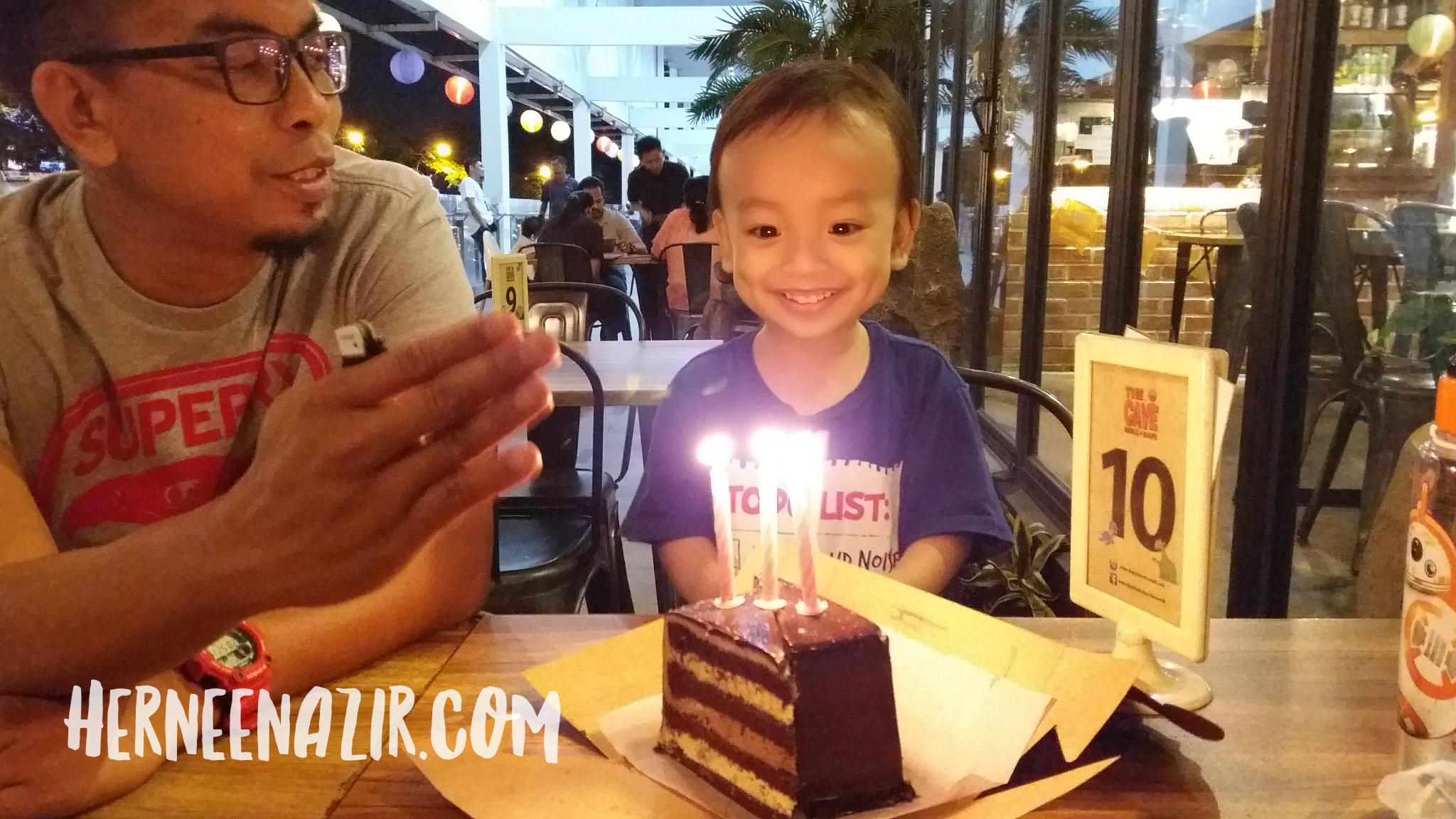 Syamil 3rd Birthday Celebration at The Cave Grill & Cafe