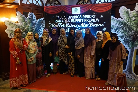Team JDT Blogger di Buffet Citra Ala Bazar Pulai Spring Resort