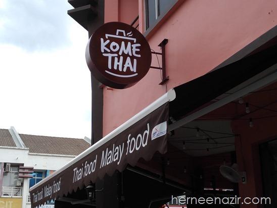 Hidangan Masakan Thai & Melayu di Restoran KOME THAI, Taman Setia Tropika