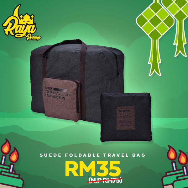 Promosi Raya Exclusive Suede Foldable Travel Bag – Beg Balik Kampung