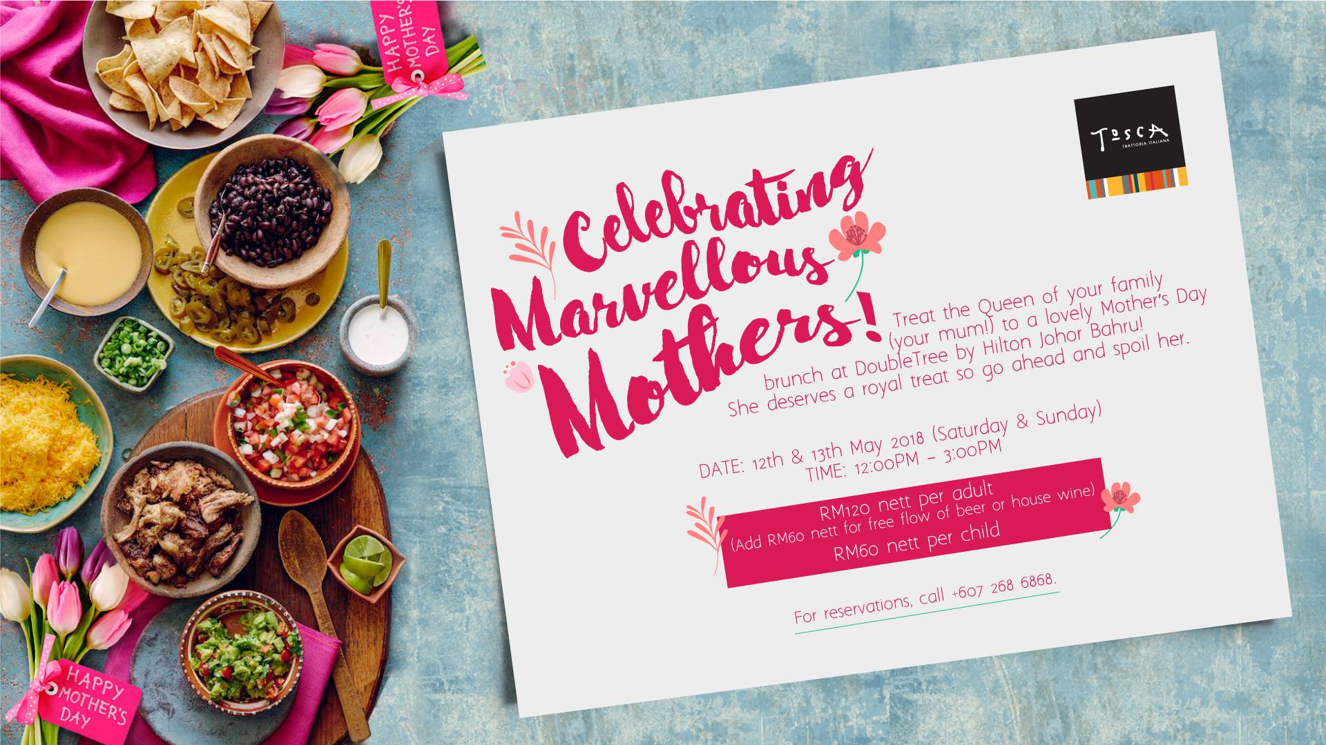 DoubleTree by Hilton Johor Bahru Celebrates Mom's This Mother's Day With Special Menu