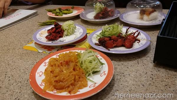 Beraya di Sushi King Bersama Geng Jumaat