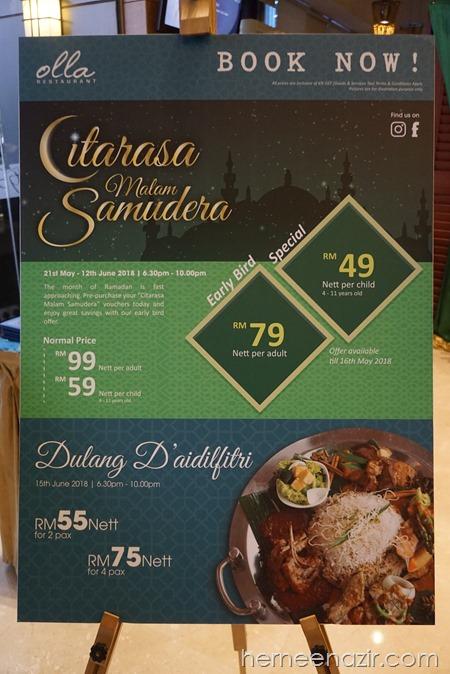 """Ramadhan Buffet 2018–""""Citarasa Malam Samudera"""" Hotel Granada Johor Bahru"""