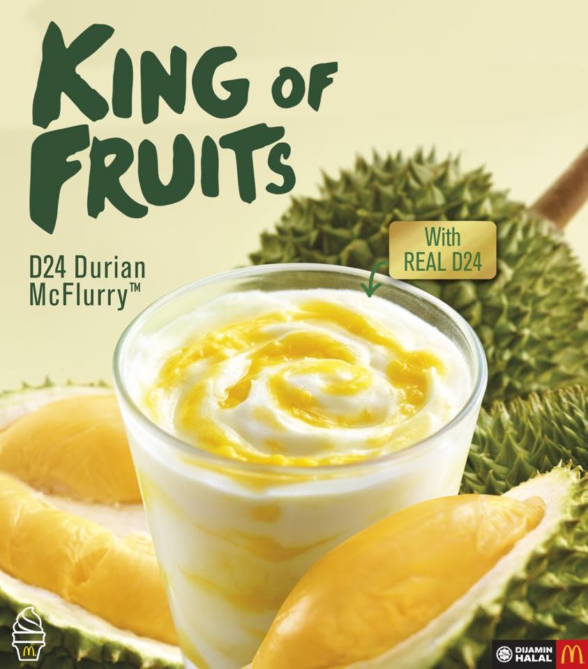 McDonald's Durian Mcflurry Kembali Lagi 14 June 2018