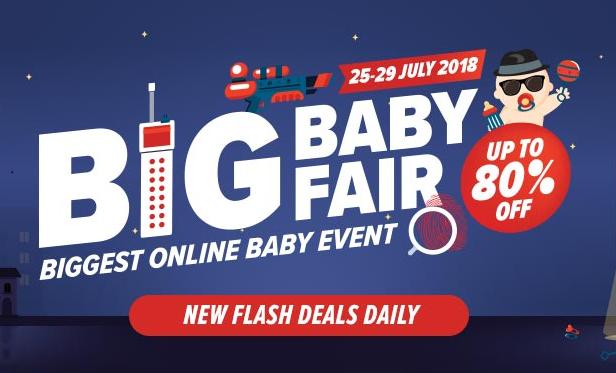 Lazada Big Baby Fair Sale Bermula 25 hingga 29 Julai 2018