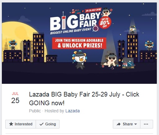 Lazada Big Baby Fair July 2018- contest