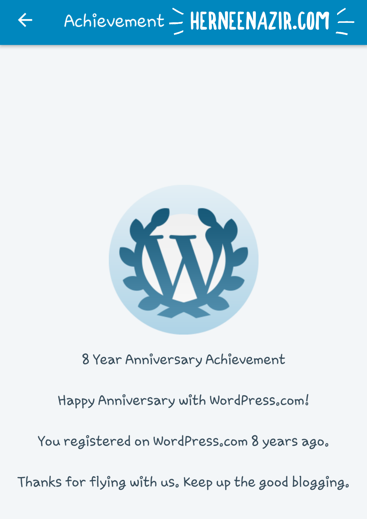 Happy 8th Anniversary With WordPress!