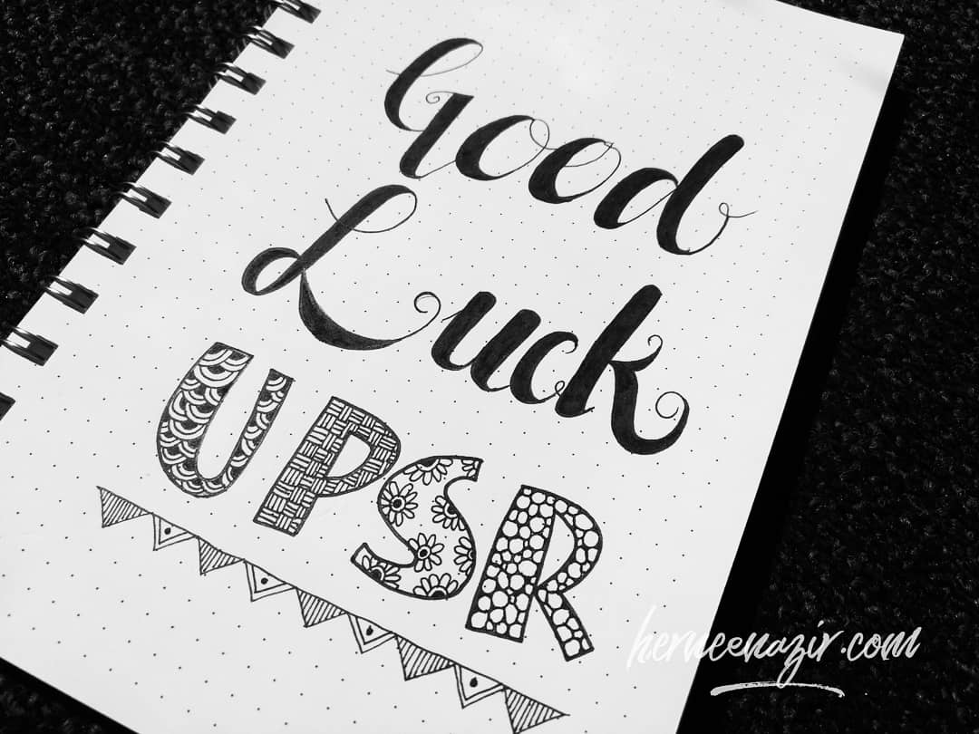 Good Luck To All UPSR 2018 Candidates