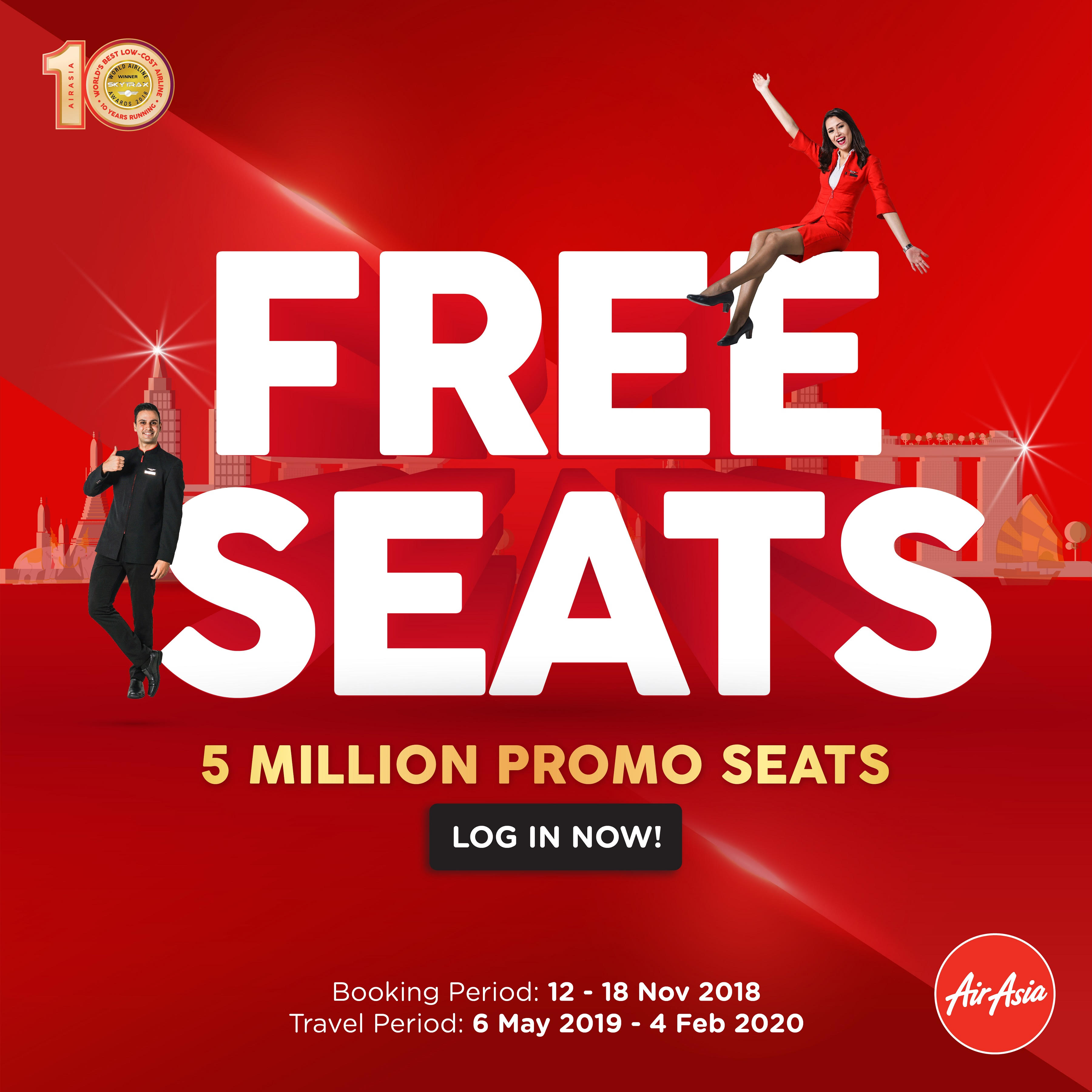 AirAsia Final Free Seats Sale of The Year!