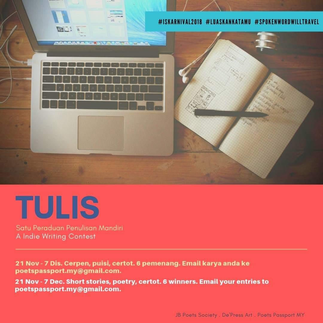 TULIS ~ Peraduan Penulisan Mandiri (21 Nov – 7 Dis 2018)