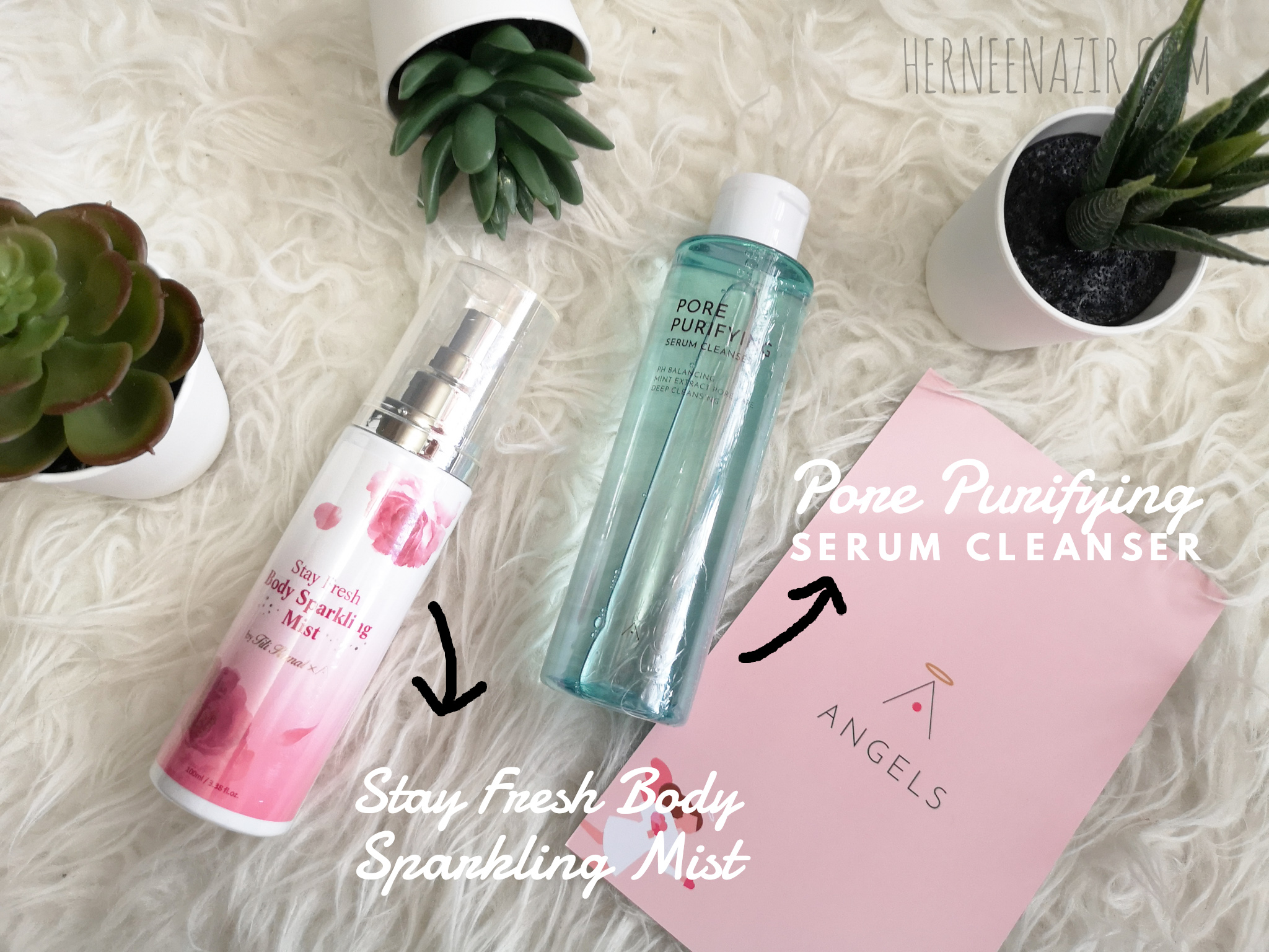 Stay Fresh Body Sparkling Mist & Pore Purifying Serum Cleanser by Althea Korea