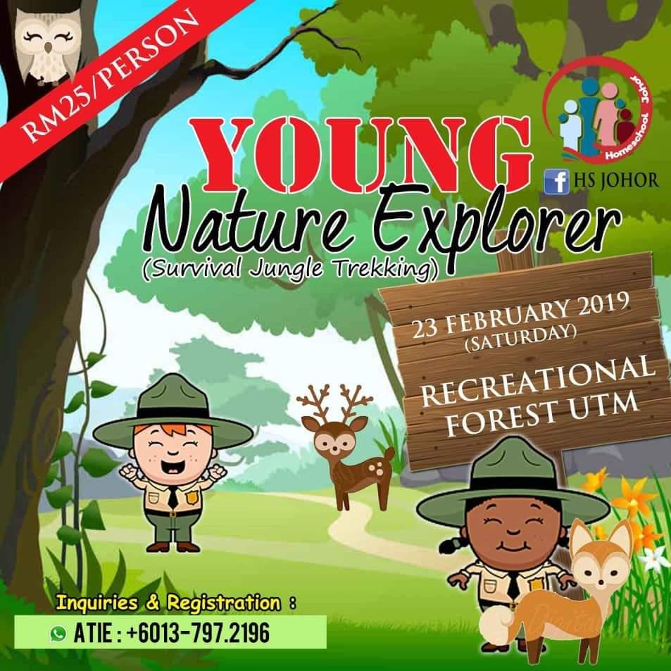 Homeschool Activities | Young Nature Explorer 1.0 (Survival Jungle Trekking) 23 Feb 2019