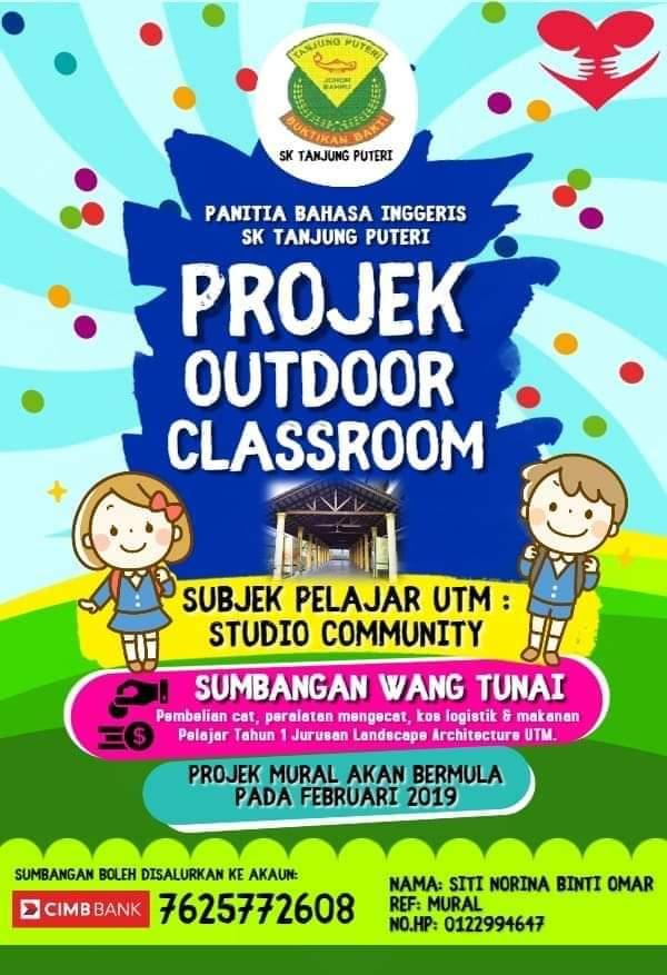 Sumbangan Wang Tunai Projek Outdoor Classroom – Panitia Bahasa Inggeris SK Tanjung Puteri
