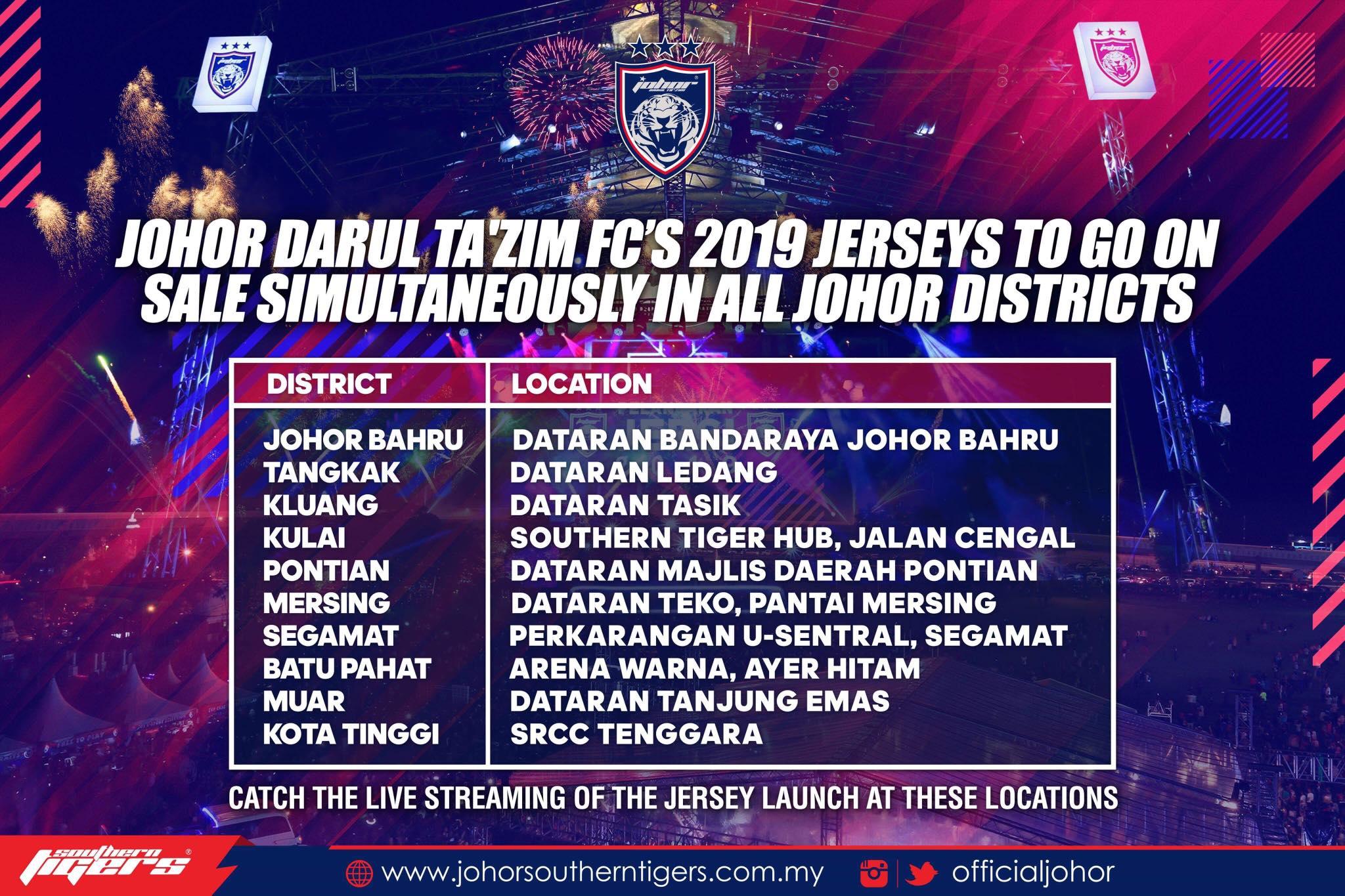 Jualan Jersi Johor Darul Ta'zim 2019