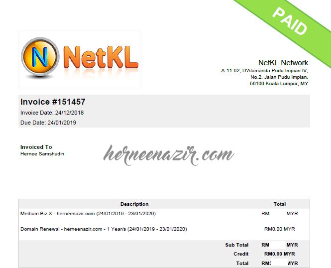 Web Hosting & Domain Renewal – Masih Setia Bersama NetKL