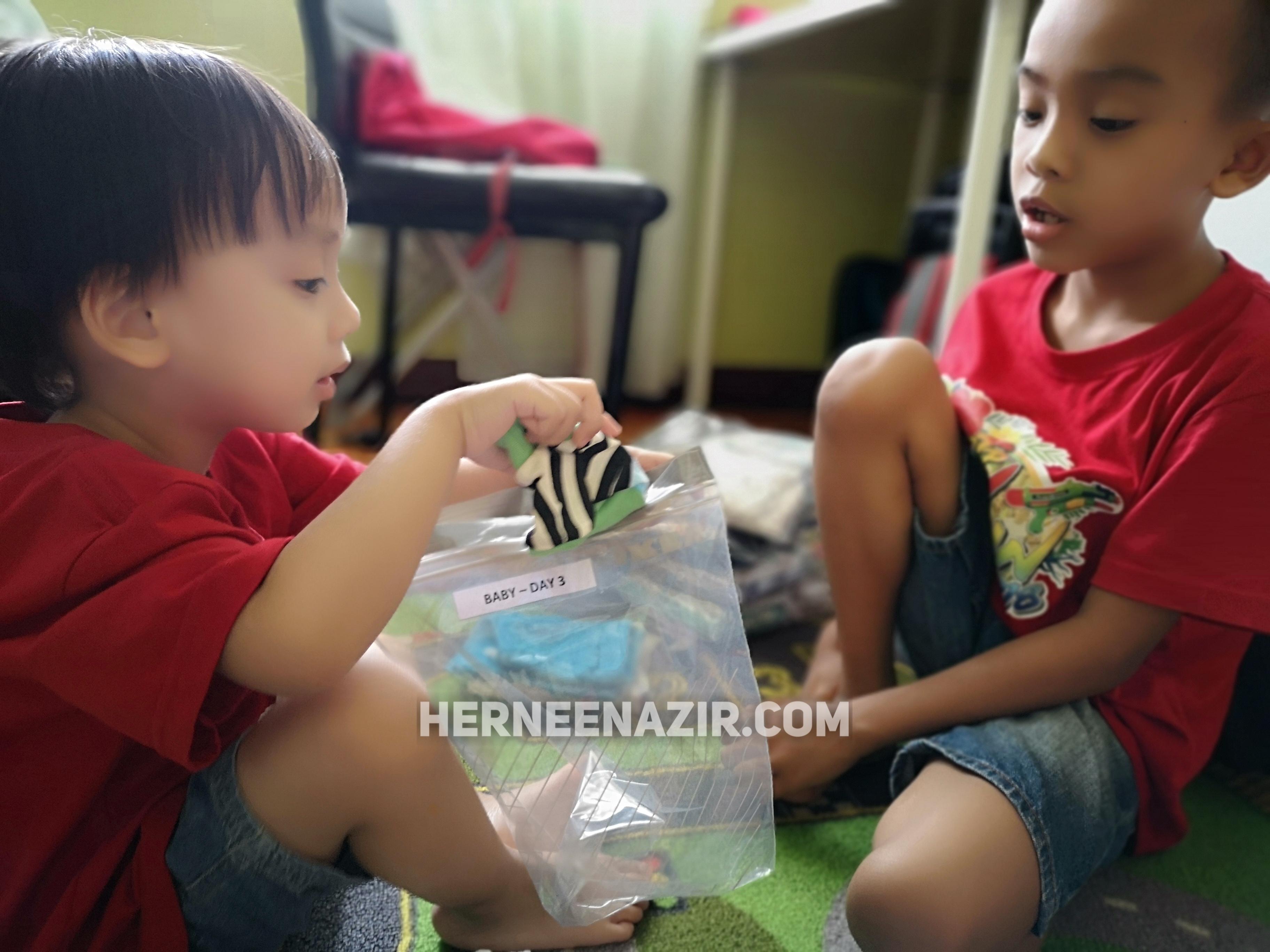 Jom Tolong Ummi Packing Baju Baby