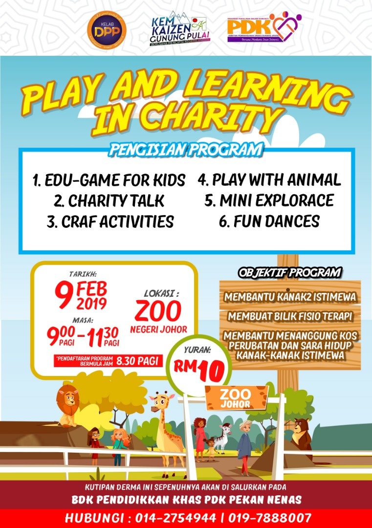 Play and Learning In Charity – Zoo Negeri Johor (9 Feb 2019)