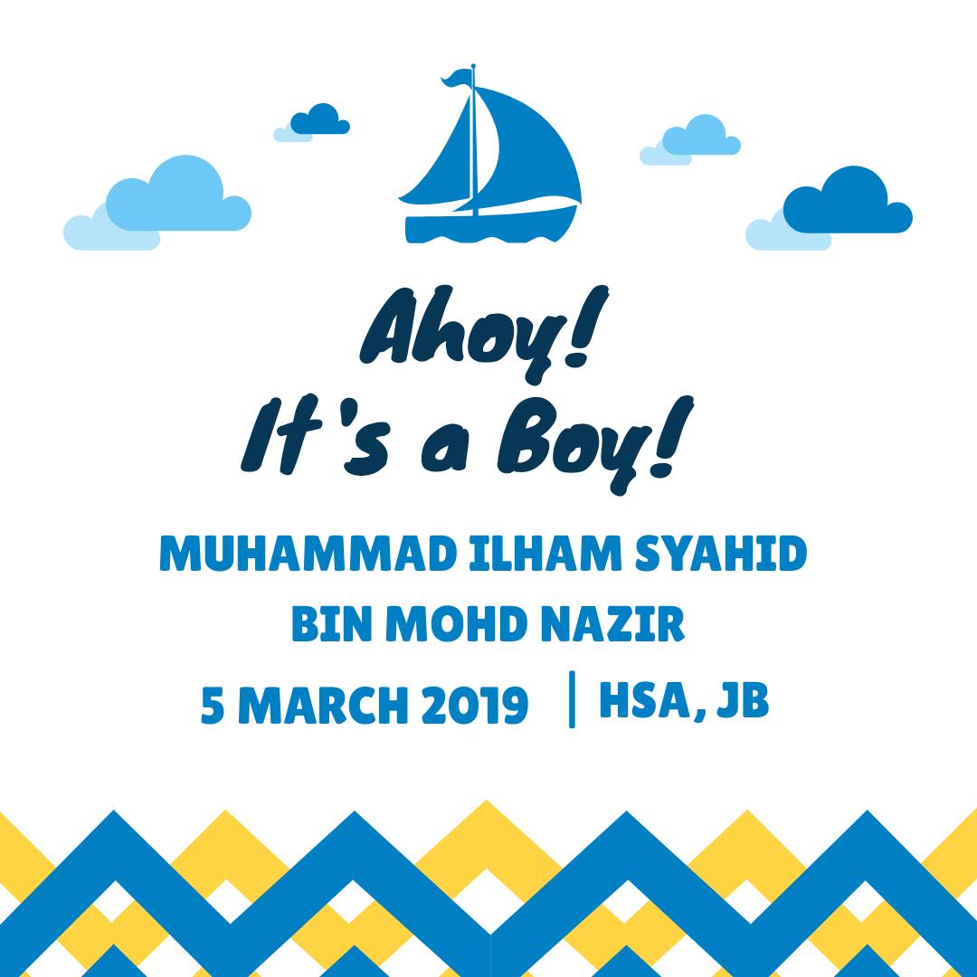 Ahoy! It's A Boy! – 5 March 2019