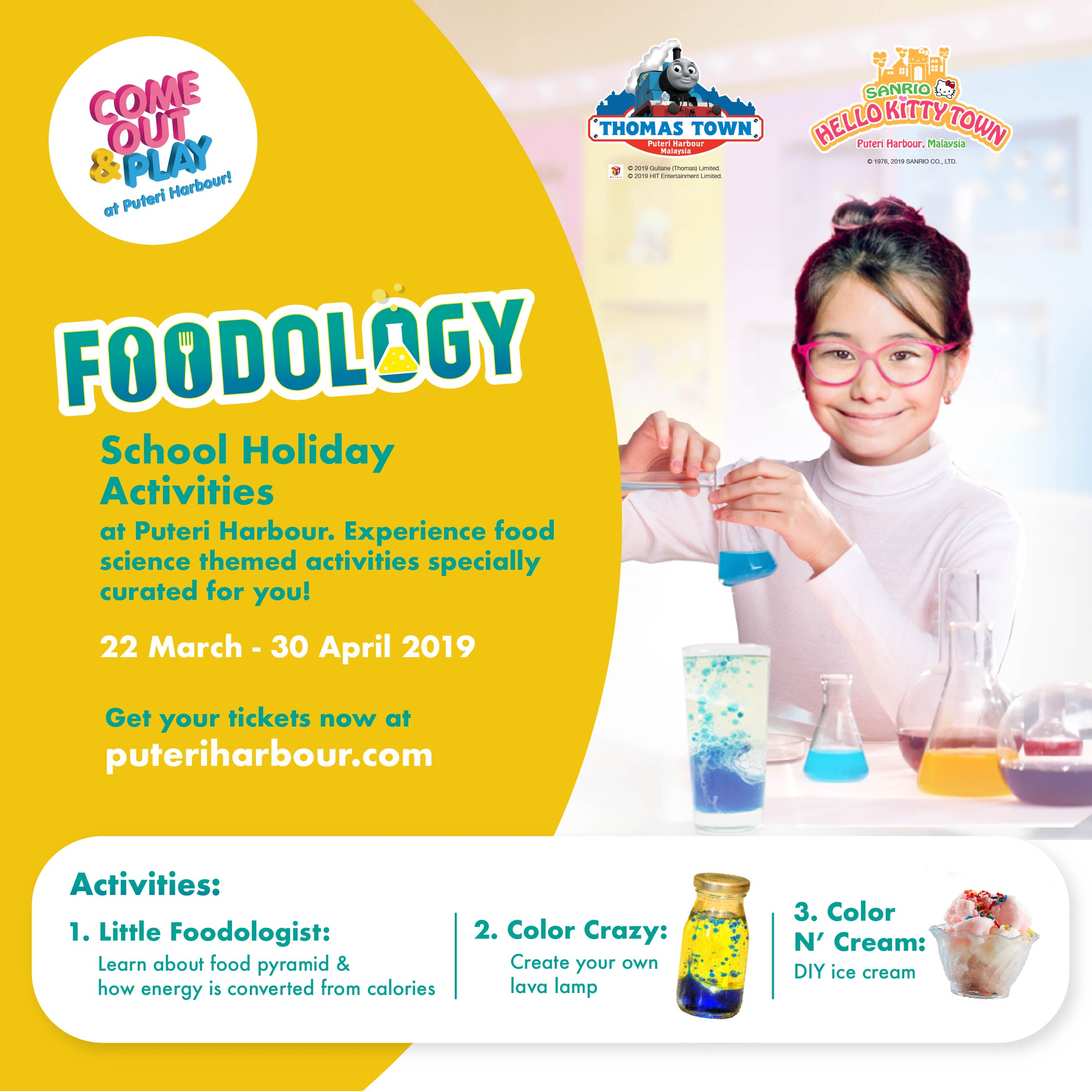 The 'Come Out & Play: Foodology' Programme at  THOMAS TOWN and SANRIO HELLO KITTY TOWN, Puteri Harbour, Johor
