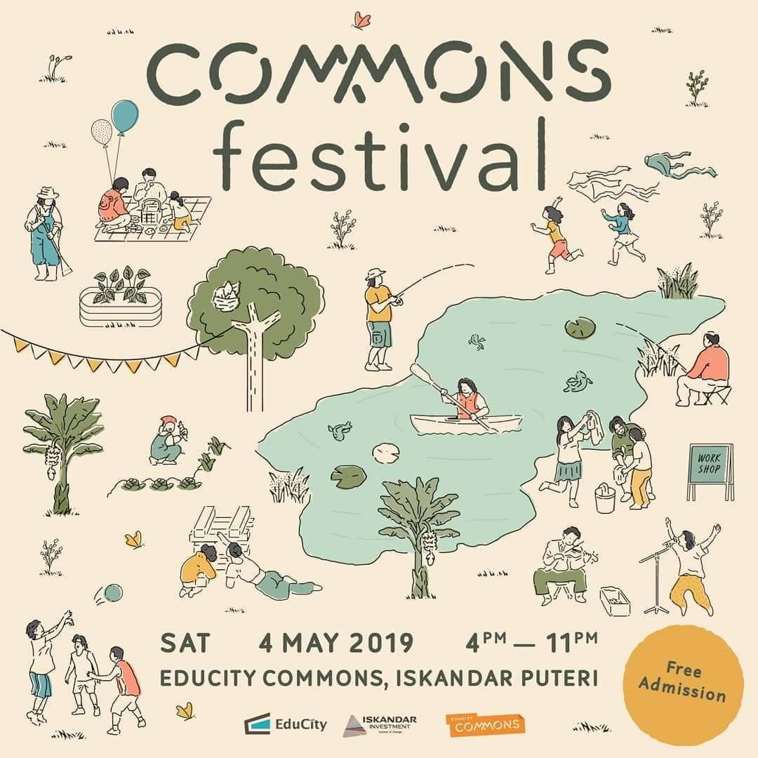 Commons Festival |EduCity Commons, Iskandar Puteri, Johor – 4 May 2019