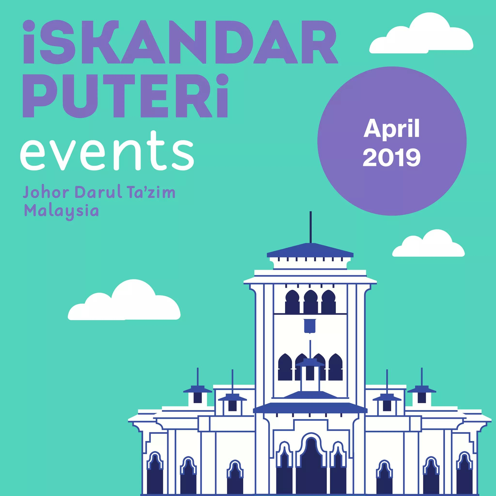 Iskandar Puteri April 2019 Events