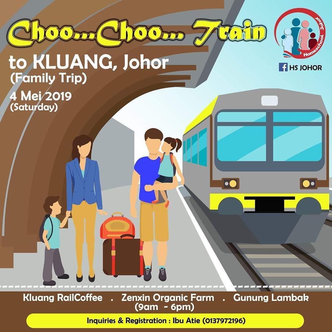 HS Johor | Choo.. Choo.. Train to Kluang Johor (Family Trip) – 4 May 2019